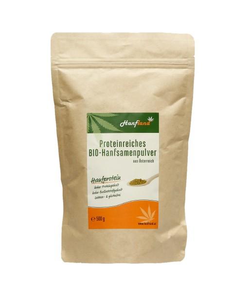Proteinreiches Bio Hanfsamenpulver aus Österreich 500 g