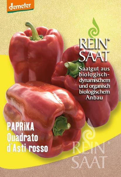 Bio Paprika Quadrato d´Asti rosso Saatgut 35Stk.