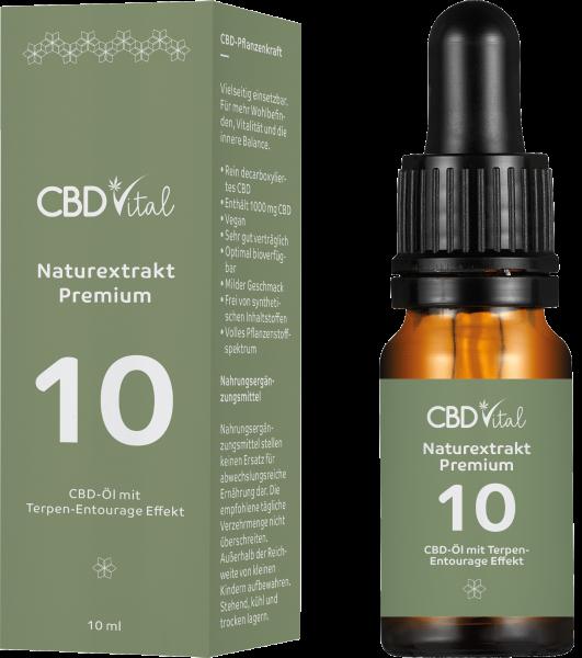 CBD Naturextrakt PREMIUM Öl 10% 10ml