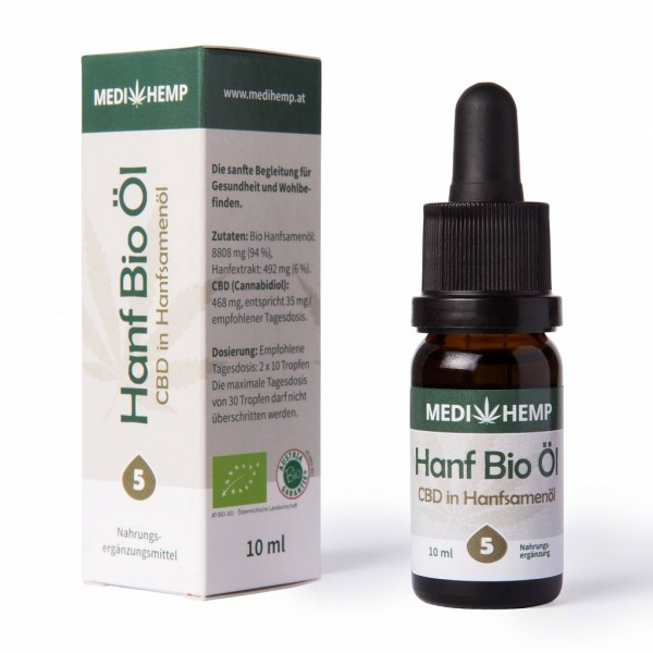 Medihemp Hanf Bio Öl CBD 5% 10ml