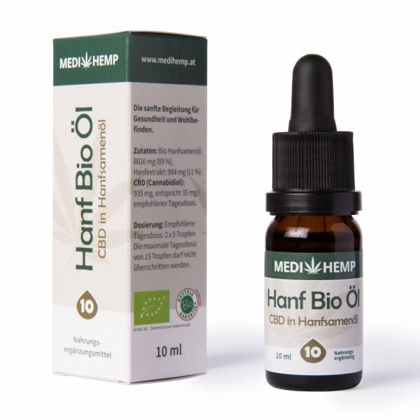 Medihemp Hanf Bio Öl CBD 10% 10ml