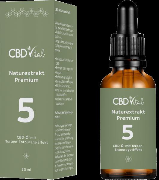 CBD Naturextrakt PREMIUM Öl 5% 30ml