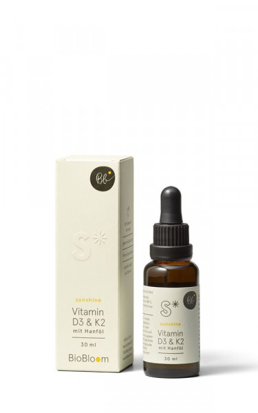 Vitamin D3 & K2 mit Hanföl – sunshine