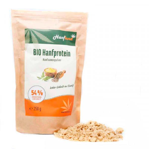 Bio Hanfproteinpulver 54 % Protein 250g