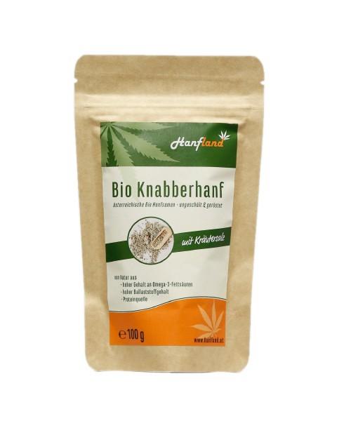 Knabberhanf Bio geröstet mit Kräutersalz, 100 g