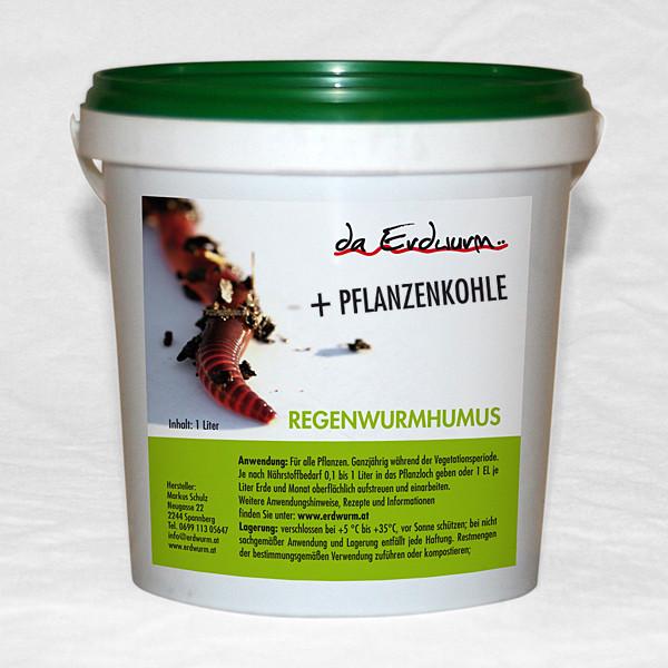 Regenwurmhumus + Pflanzenkohle 3 mm Siebung
