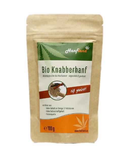 Knabberhanf Bio geröstet mit Vanille und Zimt, 100 g