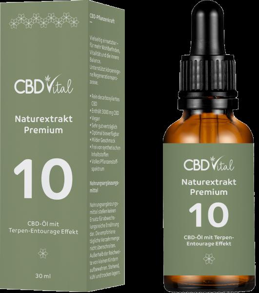 CBD Naturextrakt PREMIUM Öl 10% 30ml